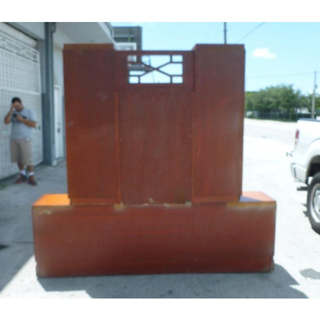 50's Hollywood Regency James Mont Coromandel Red Cabinet For Sale In Miami - Image 6 of 11