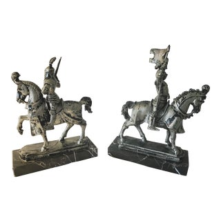 Roman Empire Knight Bookends - a Pair