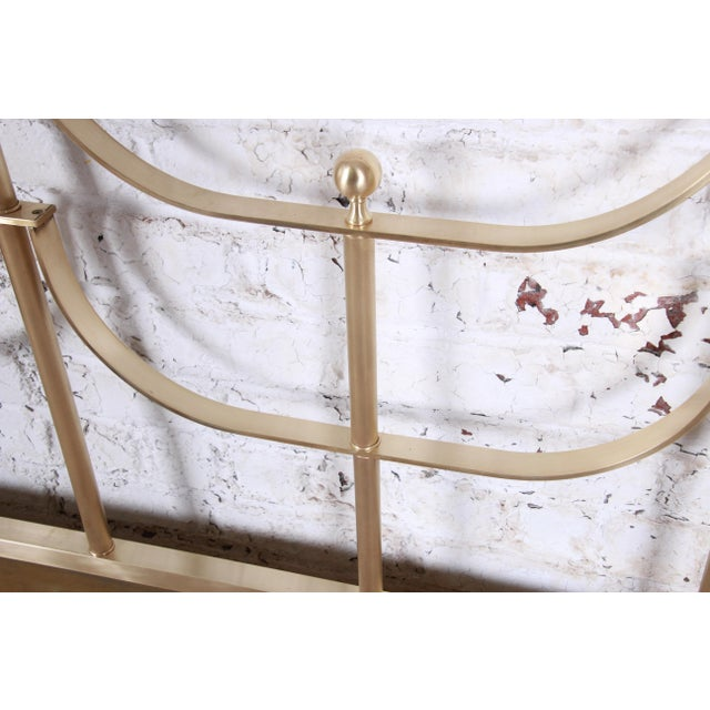 Brass Mastercraft Mid-Century Hollywood Regency Solid Brass King Size Headboard, Circa 1970s For Sale - Image 8 of 11