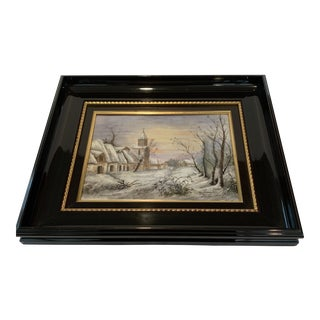 Antique French Limoges Enamel Painting For Sale