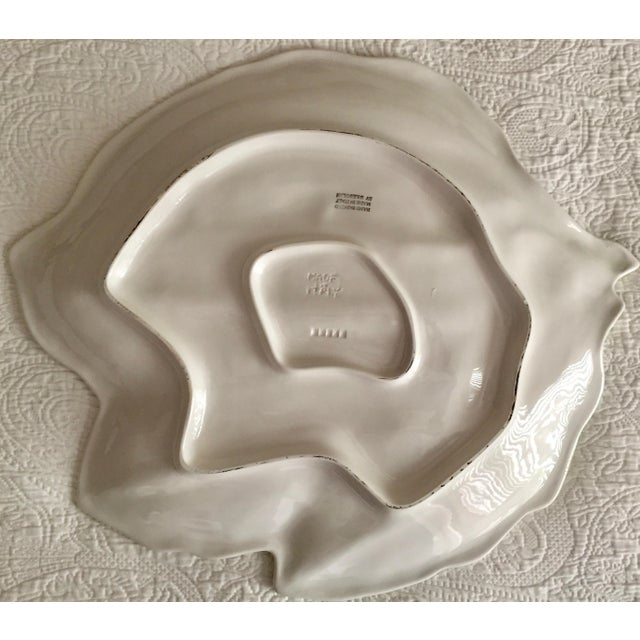 """1990s Italian 19"""" Hand-Painted Banana Leaf Platter For Sale - Image 5 of 10"""