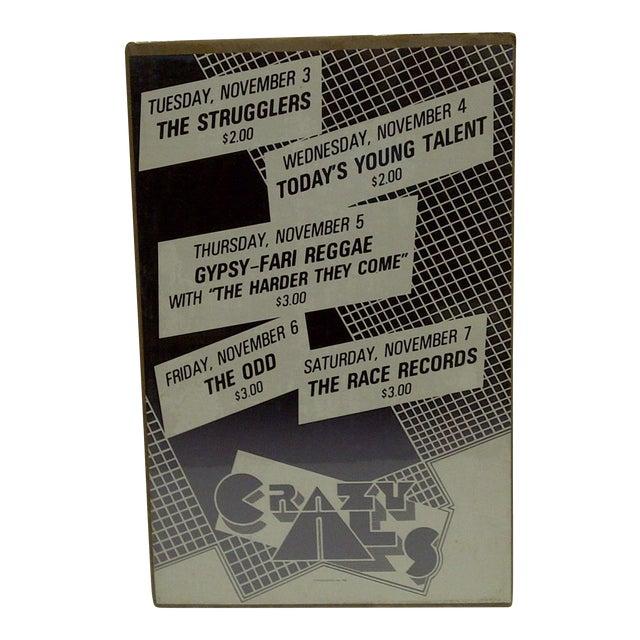 1980's Vintage Crazy Al's Concert Series Poster For Sale