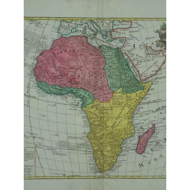 Traditional 1778 Africa Map by Lotter For Sale - Image 3 of 10