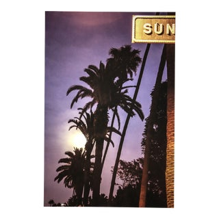 Blue Moon and Palm Trees on Sunset Blvd Photograph For Sale