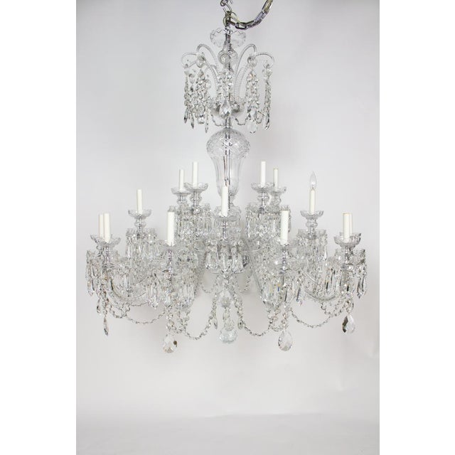 Metal Early 21st Century Preciosa Czech Crystal Chandelier - Showroom Sample For Sale - Image 7 of 7