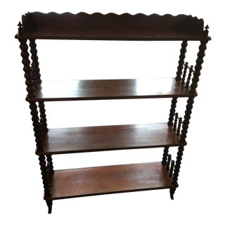 Mahogany Victorian Spindle Bookshelf From England For Sale