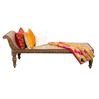 Elgeant Rosette Inlaid Chaise For Sale
