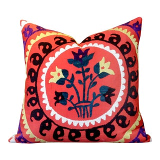 Ada Suzani Throw Pillow For Sale