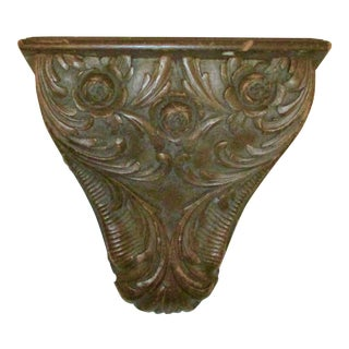 Hardwood Carved Wall Shelf For Sale