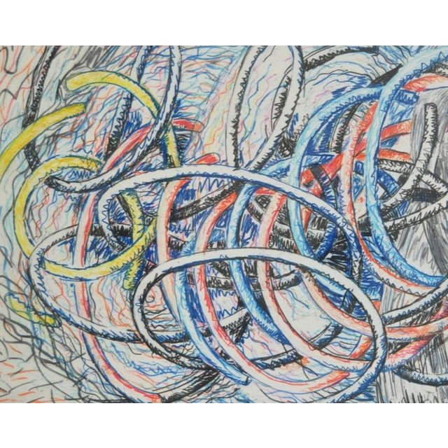 Dennis Croteau Mixed Media Abstract C.1980's - Image 4 of 6