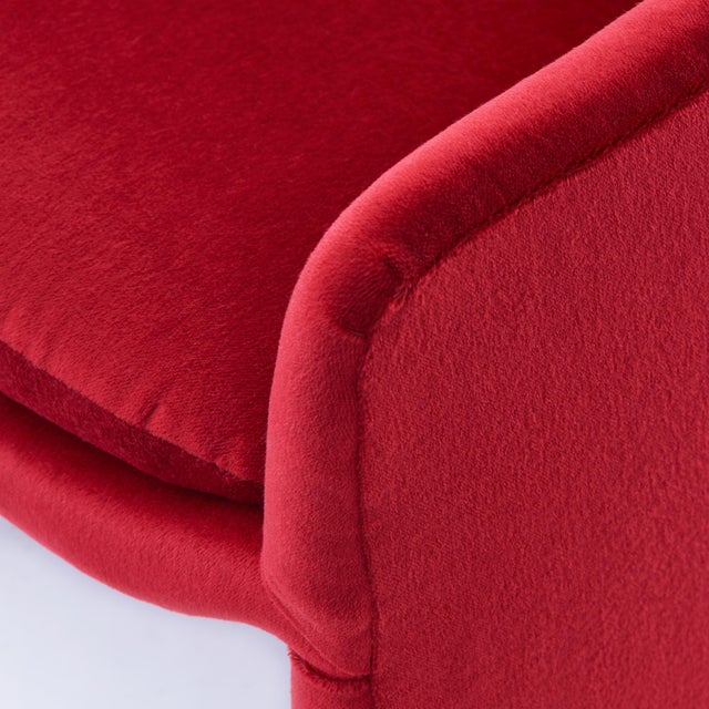 Red Milo Baughman for Thayer Coggin Barrel Dining Chairs in Mohair - Set of 6 For Sale - Image 8 of 9