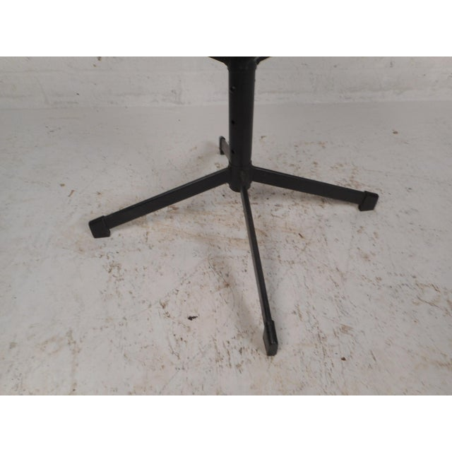 Set of Four Mid-Century Modern Swivel Bar Stools For Sale - Image 10 of 13