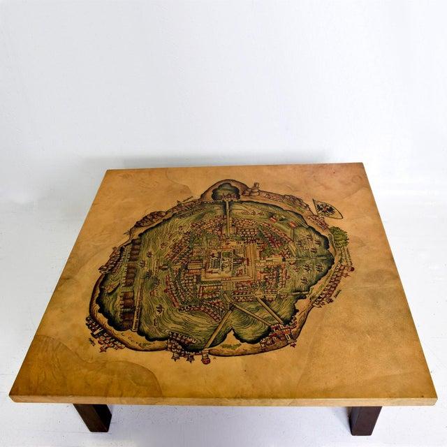 Mid-Century Modern Maria Teresa Mendez Coffee Table, Goatskin Mahogany, Mid Century Mod For Sale - Image 3 of 10