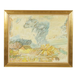 Expressionist Farm Landscape With Dust Storm For Sale