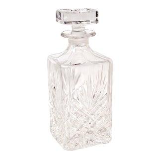 Decanter Stopper Fan Diamond Cuts Cut Crystal Square Barware / Liquor Holder For Sale
