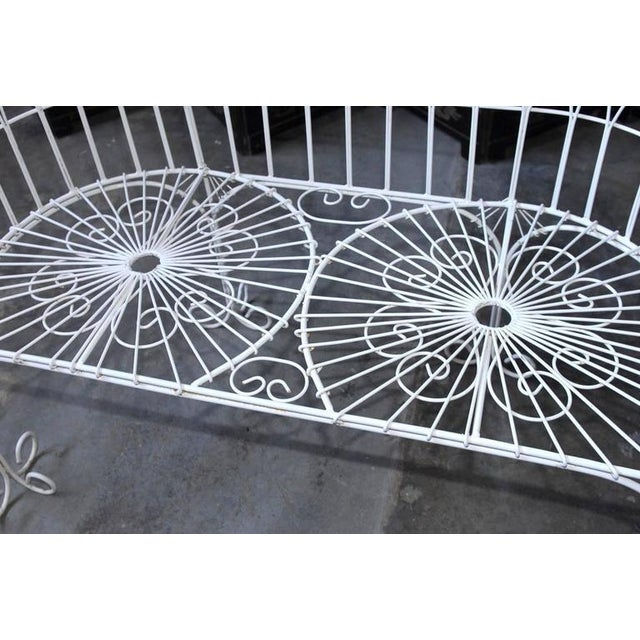 French Wrought Iron and Wire Garden Patio Set For Sale - Image 4 of 10