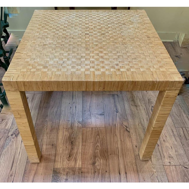 Bielecky Brothers Bielecky Rattan Basket Weave Dining Table For Sale - Image 4 of 11