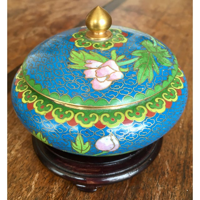 1970s Chinese Cloisonne Trinket Box For Sale In Denver - Image 6 of 13