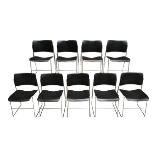 Mid-Century Modern David Rowland 40/4 Stacking Chairs - Set of 9 For Sale
