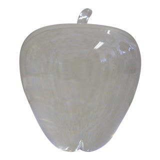 Steuben Crystal Apple Figurine For Sale