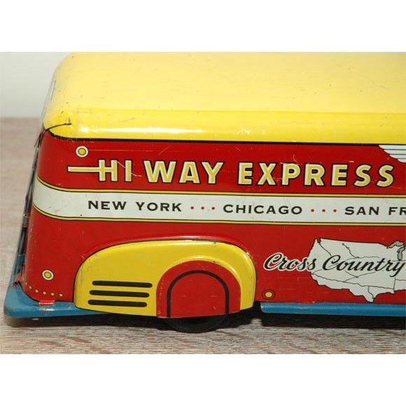 Marx Tin Litho Highway Express Toy Truck For Sale In Los Angeles - Image 6 of 8