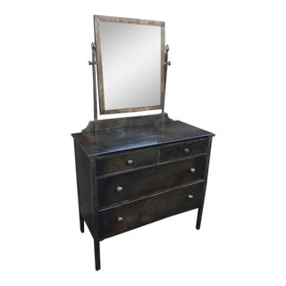 Simmons Company Industrial Steel Dresser with Mirror