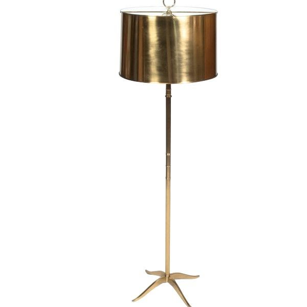 Gold Floor Lamp with Style For Sale