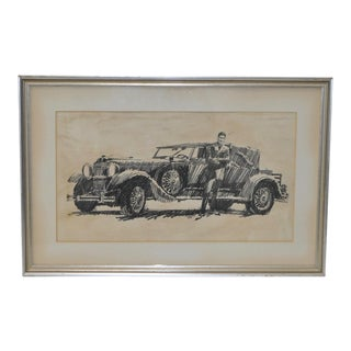 1920s Vintage Original Automobile Illustration by B. Termeo For Sale