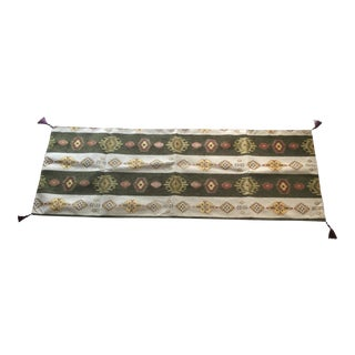 """Authentic Turkish Kilim Motif 54""""x 18.5""""Table Runner For Sale"""