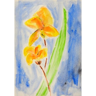 Daffodil Watercolor Painting For Sale