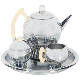Art Deco Machine Age Coffee Service Set by Walter Von Nessen for Chase For Sale
