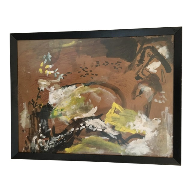 1960s Vintage Abstract Painting - Image 1 of 4