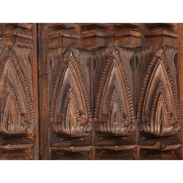 Antique Teak Carved Wood Door Frame For Sale - Image 10 of 12