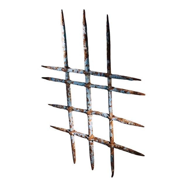 1920s Abstract Architectural Iron Sculpture Wall Hanging For Sale