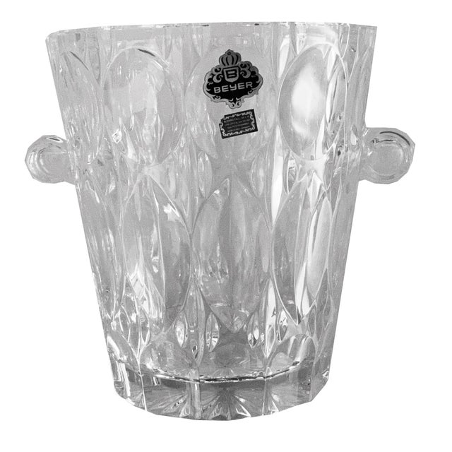 This lovely West German ice bucket would make a great addition to your bar or bar cart. Crafted of sparkling leaded...