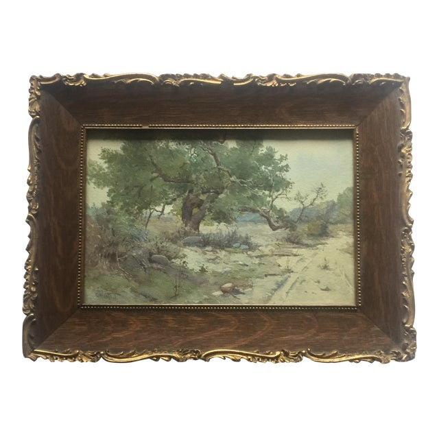 Plein Air Watercolor Painting by Elmer Wachtel For Sale