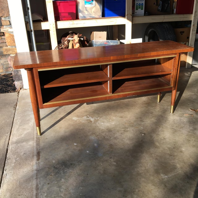 Mid-Century Modern Credenza Buffet Console Floating Top Legs - Image 3 of 10