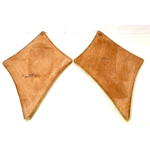 Green Vintage Italian Florentine Wall Hangings - A Pair For Sale - Image 8 of 9