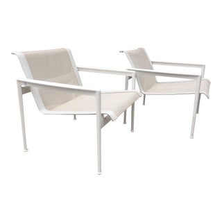 1966 Richard Schultz for Knoll Collection White Lounge Chair - a Pair