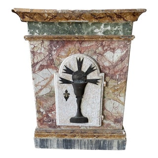 Italian Religious Tabernacle With Door - 19th C For Sale