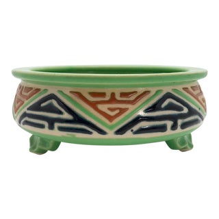20th Century Asian Green Ceramic Cachepot For Sale