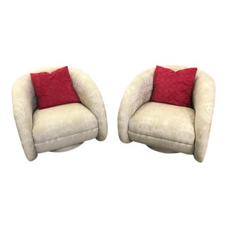 1970s Vintage Kagan Swivel Chairs- A Pair For Sale