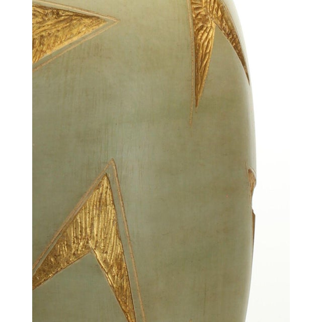 Gold & Green Vector Table Lamp For Sale - Image 4 of 8