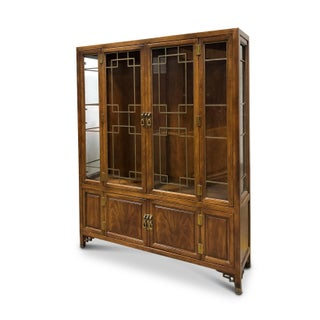 Vintage Henredon Walnut China Cabinet Preview