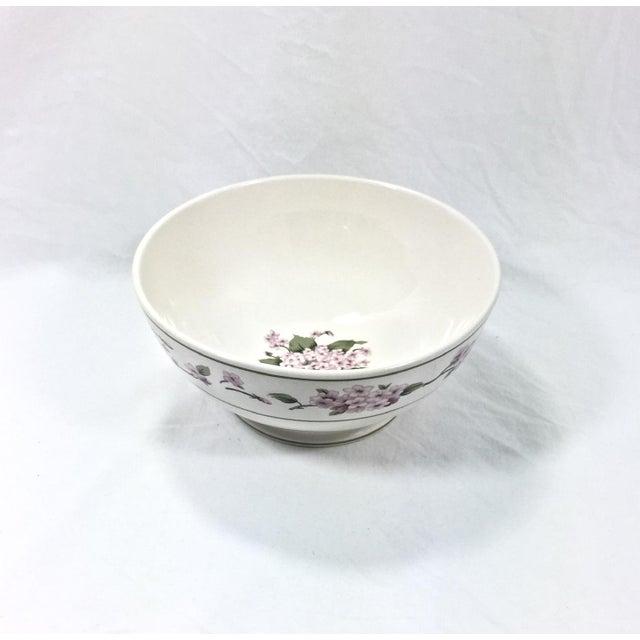 Botanical Ceramic Serving Bowl For Sale - Image 4 of 6
