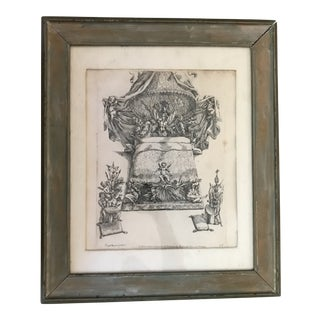 Antique 17th Century Italian Framed Etching by Passarini For Sale