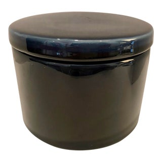 1970's Ceramic Container With Lid For Sale
