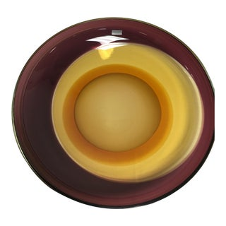 "Waterford Evolution "" Canyon Sunset"" Art Glass Bowl"