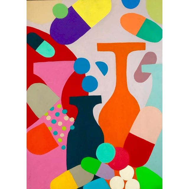 2010s Mid-Century Inspired Painting by Tony Marine For Sale - Image 5 of 5