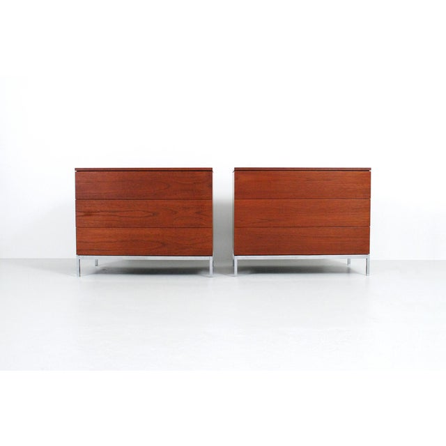Pair of Teak Dressers by Florence Knoll For Sale - Image 11 of 11